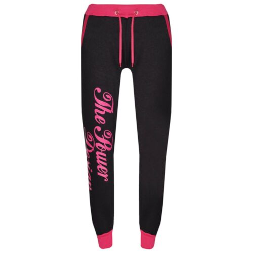 Kids Girls Tracksuit Designer/'s The Power Design Top /& Bottom Jogging Suit 5-13Y