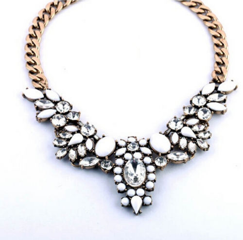 Vintage Boho Fashion Chain Pendant Choker Chunky Statement Collar Bib Necklace