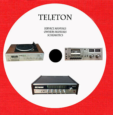 Teleton Audio Repair Service schematics owner manuals on 1 cd in pdf format  | eBay