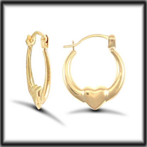 9ct Yellow Gold Heart Creole Earrings JER731 jewellery company