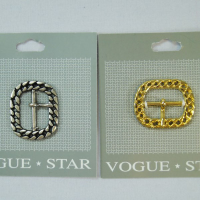 Vogue Star 20mm Rectangle Wide Edge Flat Slide Replacement Buckle Accessories