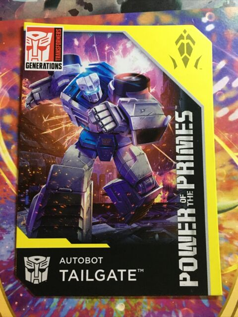 Transformers Power Of The Primes Autobot Tailgate Onyx Bio Card