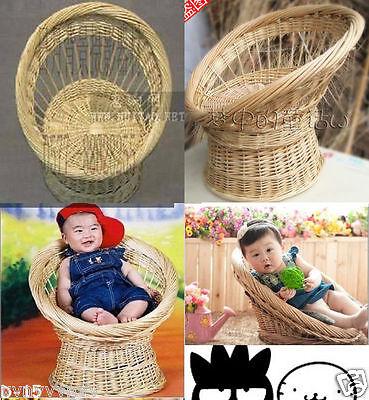 Hot! New Creative Handmade Woven Basket Photography Prop for Newborn Baby D-15
