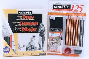 General Pencil Co #30 Drawing & #SG125-5 Travel Art Kit Sets Charcoal & Carbon