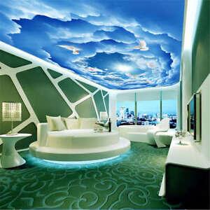 Variable Blue Cloud 3d Ceiling Mural Full Wall Photo Wallpaper