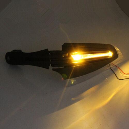 Motorcycle Bike Handguards Hand Guards Protectors w//LEDTurn Signal Lights Bobber