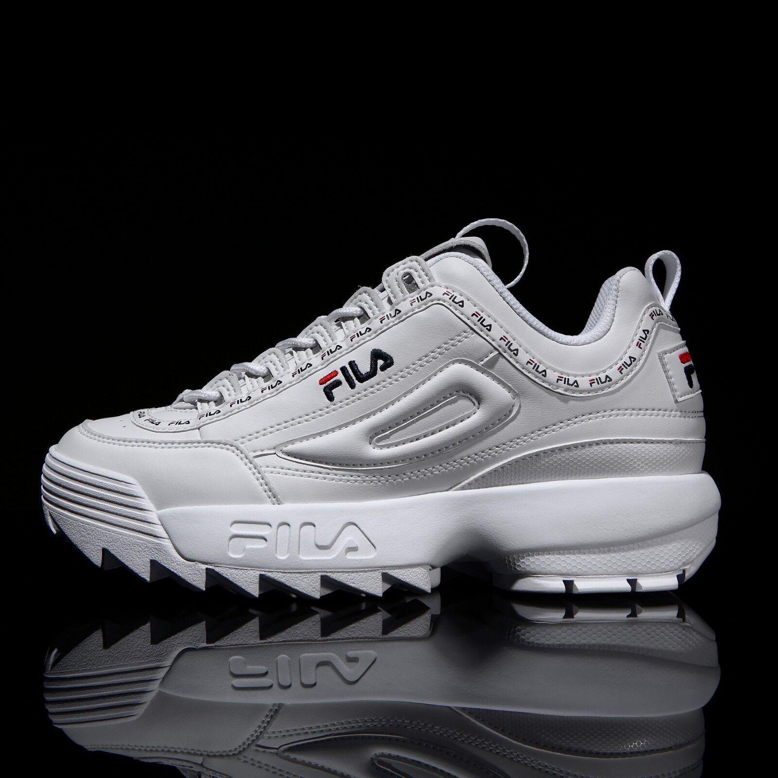 FILA Disruptor II 2 White Tapey UK Tape Shoes Unisex Size UK Tapey 3-9 FS1HTA3091X_WWT d71de6