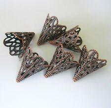 20pcs-Antiqued Copper Filigree Cone Bead Cap Beadcaps- 20X17mm.