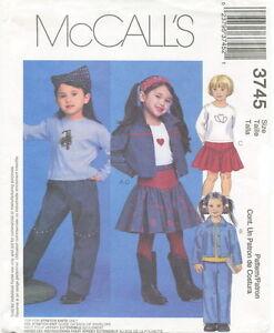 McCalls-3745-Girls-Jacket-Top-Pants-Skirt-Sewing-Pattern-Size-6-7-8