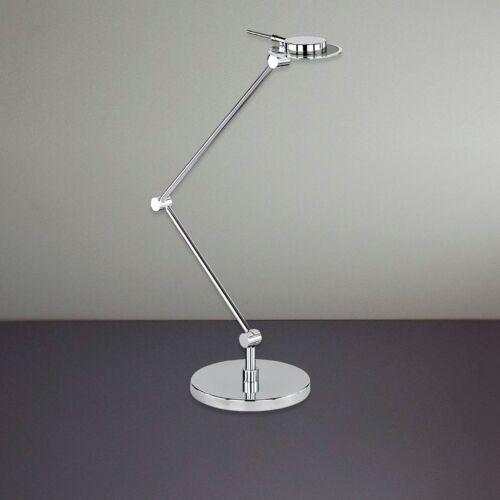 Wofi LED Tischleuchte Pure 1-flg Chrom Schalter verstellbar 5 Watt 450 Lumen