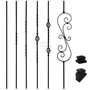 Image Is Loading Matte Black Iron Balusters Spindles Metal Stair Parts