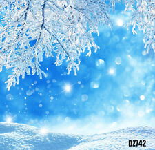 Xmas Winter Snow Vinyl Photography Backdrop Background Studio Props 5x7FT DZ742