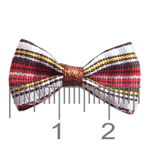 10pcs Small Tartan Check Bows Craft Garment Embellishments Scrapbooking Card