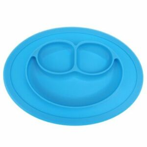 1x-Blue-Silicone-Baby-Snack-Mat-Compact-Lightweight-BPA-free-size-27-x-19-5-x2cm