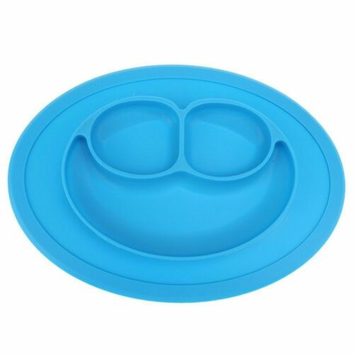 1x Blue Silicone Baby Snack Mat,Compact,Lightweight,BPA free,size:27 x 19.5 x2cm