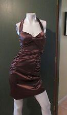 Ruby Rox Mini Dress Size 3 Coffee Brown Evening Halter Neck