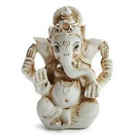 """GANESHA STATUE 3.2"""" Hindu Elephant God GOOD QUALITY White Resin NEW Indian Deity"""