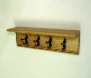 DOLLHOUSE Sir Thomas Thumb Long Red Wood Bench Signed 1:12 Artisan Miniatures