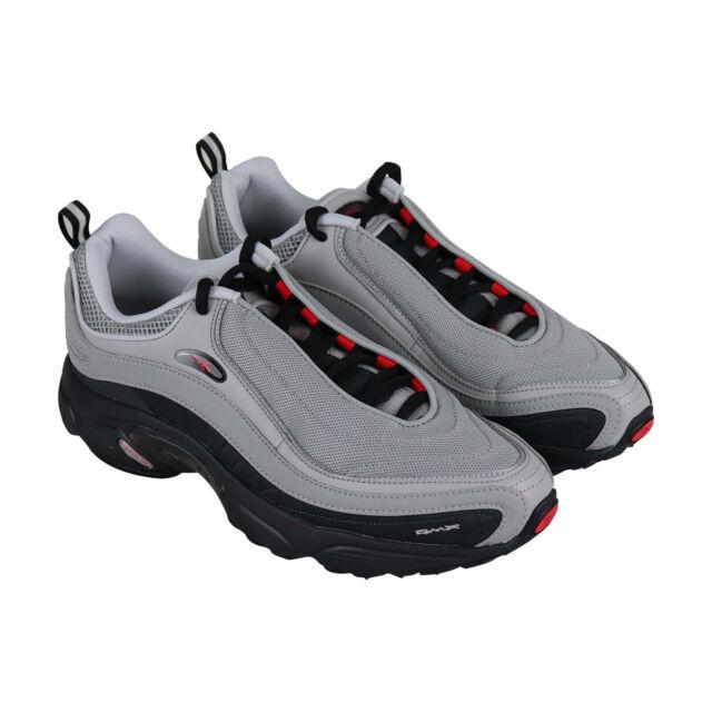 1c2fc5c889 Reebok Daytona Dmx Mens Gray Mesh Low Top Lace Up Sneakers Shoes