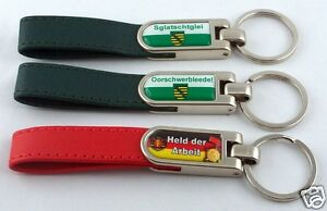 Key-Chain-Leather-Saxony-with-Saying-Saxon-Ossi-Ostprodukte-Slogans