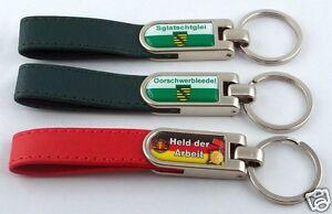 Key-Chain-Leather-Saxony-with-Saying-Saxon-Ossi-Ostprodukte-Slogans