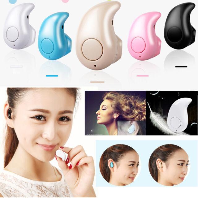 Mini Wireless Bluetooth Stereo Headset Earphone For iPhone Galaxy LG HTC Huawei