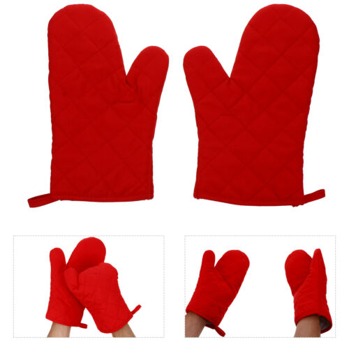 1 Pair Oven Mitts Heat Resistant Pot Holder Microwave