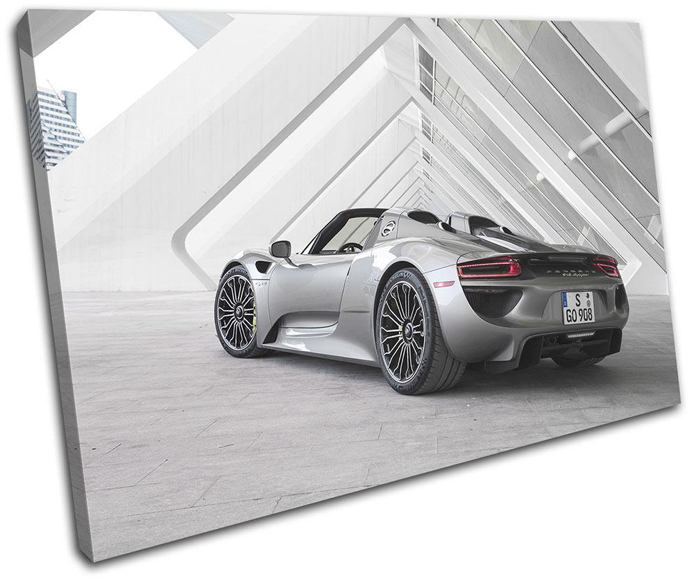 Porsche 918 Supercar Cars SINGLE TELA parete arte arte arte foto stampa fedb66