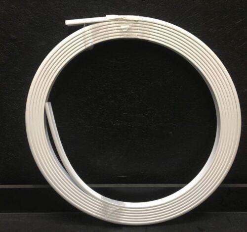"""Taco V21-9909WHC43D Flex Vinyl Rub Rail 1 17//32/"""" White W// Flex Chrome Insert"""