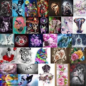 5D-DIY-Drill-Diamond-Painting-Rose-Girl-Flower-Cross-Stitch-Embroidery-Decor-Kit