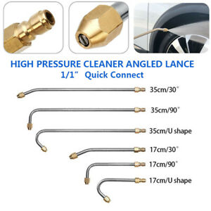 30° 90° Angle Extension Spray Wand High Pressure Washer 1//4/'/' Quick Release Tool