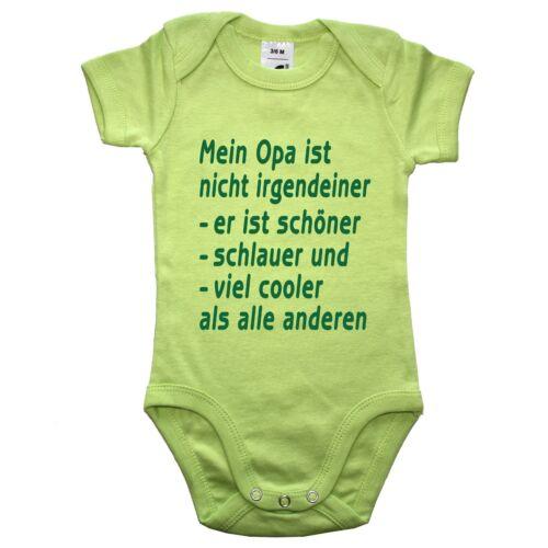 Babybody Baby Body Frei wählbar Die coolste Oma Opa Mama Papa Tante Onkel