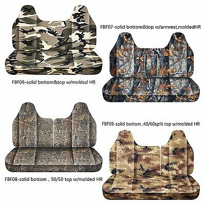 Wondrous Afcc Camouflage Bench Seat Cover Molded Headrest 24Colors Fits Ford F150 250 350 Ebay Caraccident5 Cool Chair Designs And Ideas Caraccident5Info