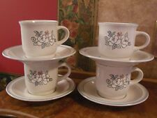 4 sets Hearthside Chantilly Fleur de Lune Tea Coffee Expresso Cups and Saucers