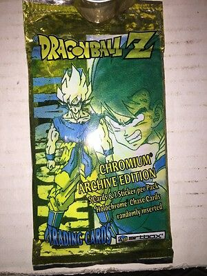 DRAGON BALL Z DBZ SERIE CROMIUM ARCHIVE EDITION BOOSTER PACK SEALED CARD ARTBOX