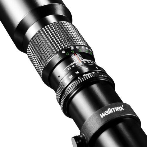 T2-Anschluss walimex 500mm 500 mm 1:8,0 Objektiv Linsenobjektiv