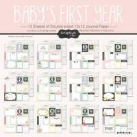 Scrapbook Customs Baby Girl First Months Scrapbooking Kit, New, Free Shipping