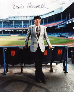 Signed-Ernie-Harwell-Detroit-Tigers-HOF-preprint-photo