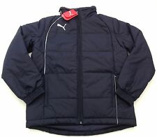 NWT New Puma Men's Size Small Navy Blue Padded Waterproof Coat Detachable Sleeve