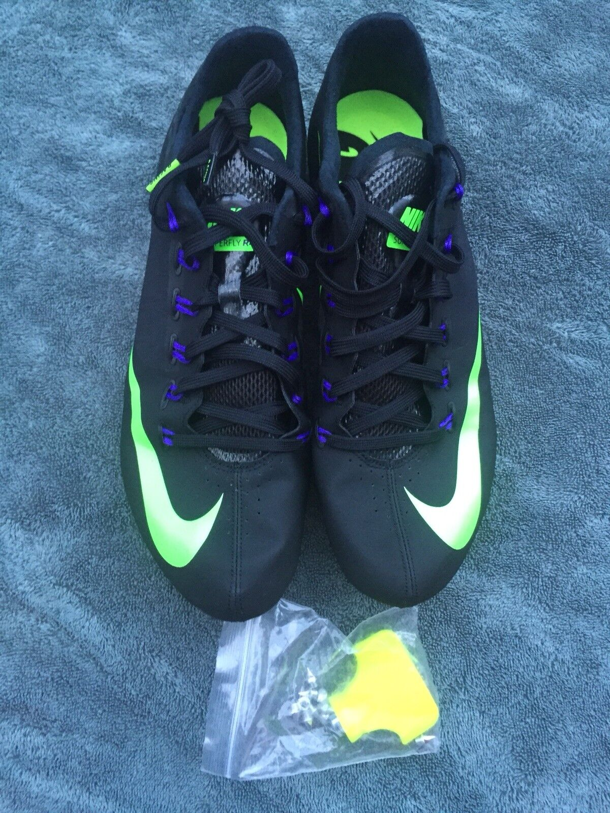 low priced 5fdf1 9bc21 ... Nike Zoom Superfly R4 R4 R4 Black Track Spikes Mens Size  13 fa3fcf ...