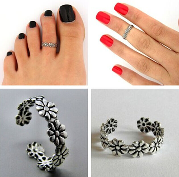 VINTAGE Celebrity Fashion Simple Design Adjustable Toe Ring Foot Jewelry HS88