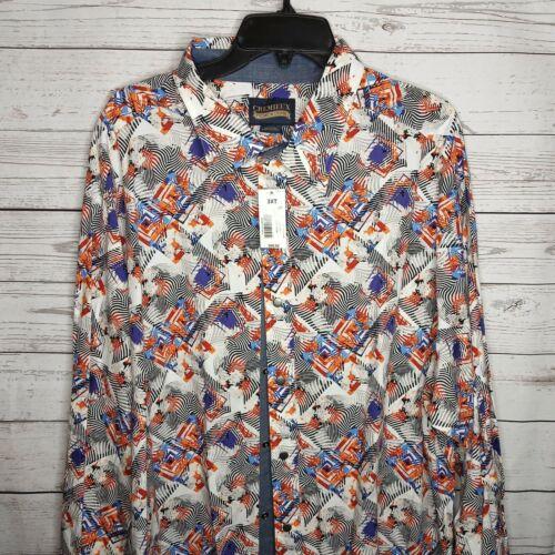 Cremieux Premium Denim Multi-Color Homme Taille 3XB Big /& Tall Shirt 69.50 $