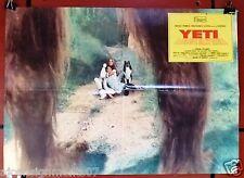 (Set of 2) Yeti - Il Gigante del 20° Secolo Italian Movie Lobby Card 1970s
