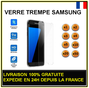 Vitre-verre-trempe-SAMSUNG-Galaxy-S4-S5-S6-S7-protection-ecran-lot-2-3-4-5-10-20