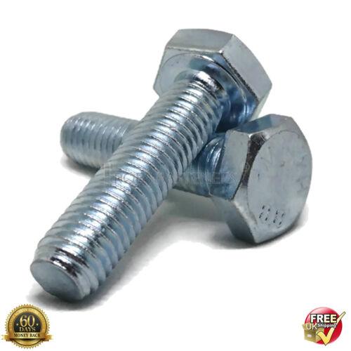 M5 5mm Hilo Completo Pernos de Cabeza Hexagonal Tornillos Hexagonal Zincado Métrico Perno DIN 933