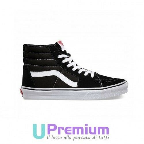 Vans Sk8 Hi Classiche Alte black Striscia white VD5IB8C shoes ORIGINALI ® ITALI
