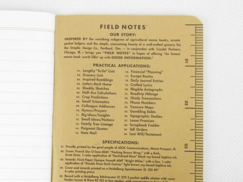 Field Notes Brand 48 Page Memo Book Made In USA Durable LOT of 3 Pocket Size
