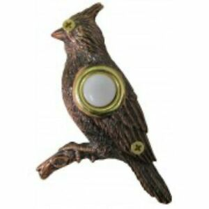 Lighted-Decorative-Doorbell-Bronze-Plated-Cardinal-Doorbell