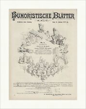 Humoristische Blätter K. Klic Karrikaturen Cover Kinder Nackt Holzstich E 17984