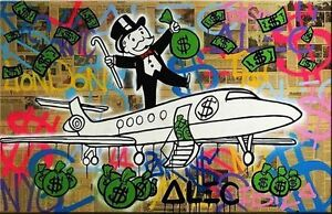 Alec Monopoly Amazing HD print on Canvas Urban art Wall Decor Mexican 24x36/""